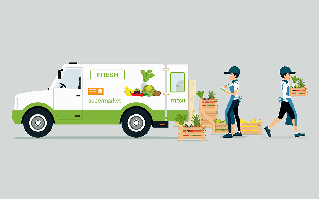 Grocery delivery truck | Wiers